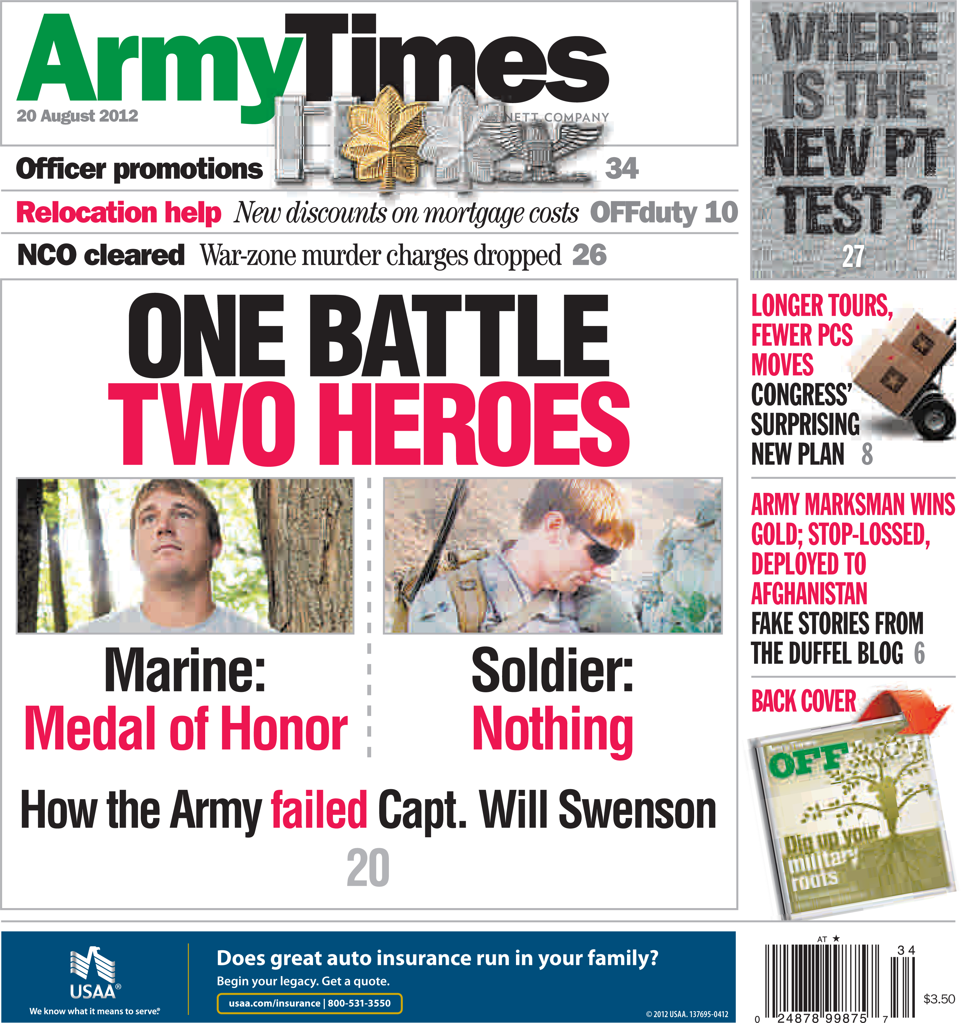 This week's Army Times: Medal of Honor request 'lost,' NCO's war ...